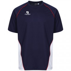 Navy White Red Performance T-Shirts