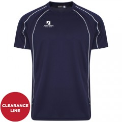 Navy White Piping Performance T-Shirts